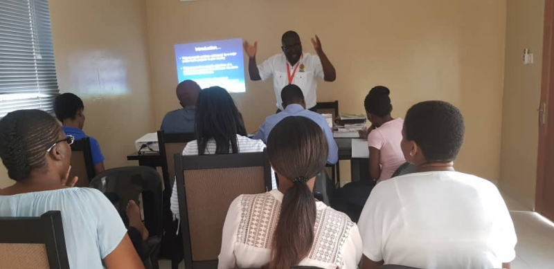Dr James Zulu in ICOF Botswana  during Contact classes